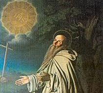Icona di San Romualdo, santo dell'Occidente ortodosso (XI sec.).